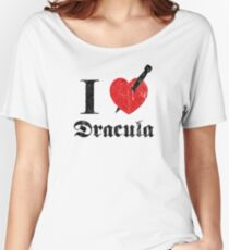 I love (to kill) Dracula (black font eroded) Women's Relaxed Fit T-Shirt