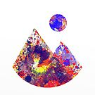 Primary Landscape - Abstract Geometric Art In Primary Colours, Red, Blue And Yellow by Printpix