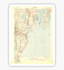 USGS TOPO Map Rhode Island RI Narragansett Pier 353427 1944 31680 Sticker