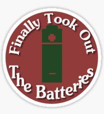 Parental Achievements:  Batteries Sticker