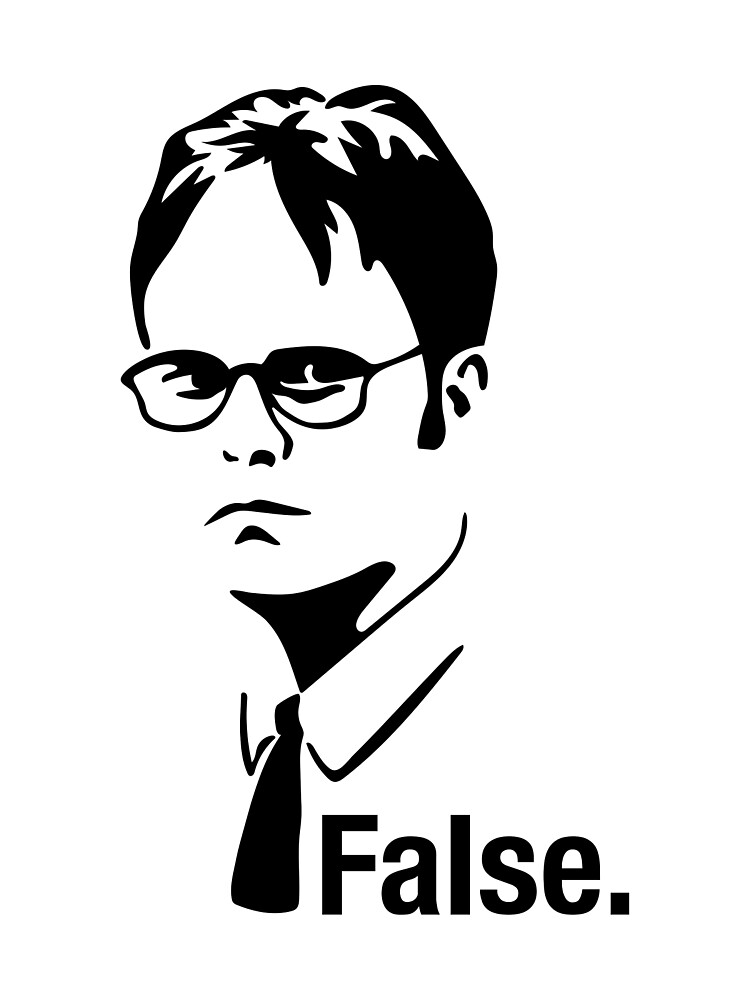 Quot The Office Dwight False Sticker Quot By Flycitydesigns