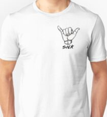 Shaka Sick Black and White Unisex T-Shirt