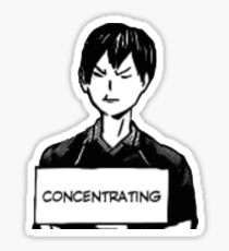 CONCENTRATING Sticker