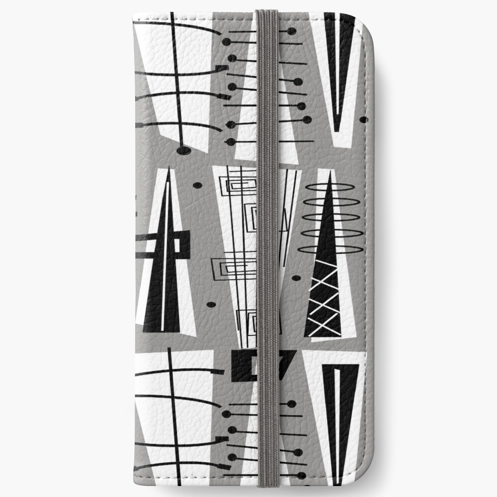 Mid-Century Atomzeit iPhone Flip-Case