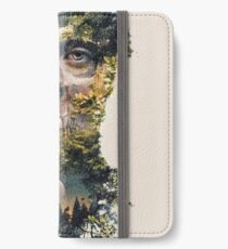 Der Torwächter Dark Surrealismus Art iPhone Flip-Case/Hülle/Klebefolie