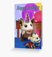 Birthday Opossum Greeting Card
