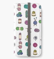 Balls of Yarn - Knitting Watercolor iPhone Wallet/Case/Skin