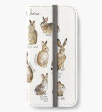 Kaninchen und Hasen iPhone Flip-Case/Hülle/Skin