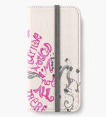 Ich bin nicht alles da - Cheshire Cat iPhone Flip-Case/Hülle/Klebefolie
