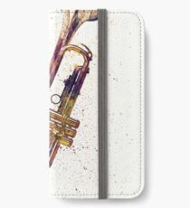 Trumpet Abstract Watercolor iPhone Wallet/Case/Skin
