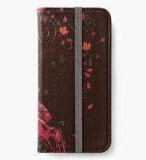 Blätter im Wind iPhone Flip-Case/Hülle/Skin