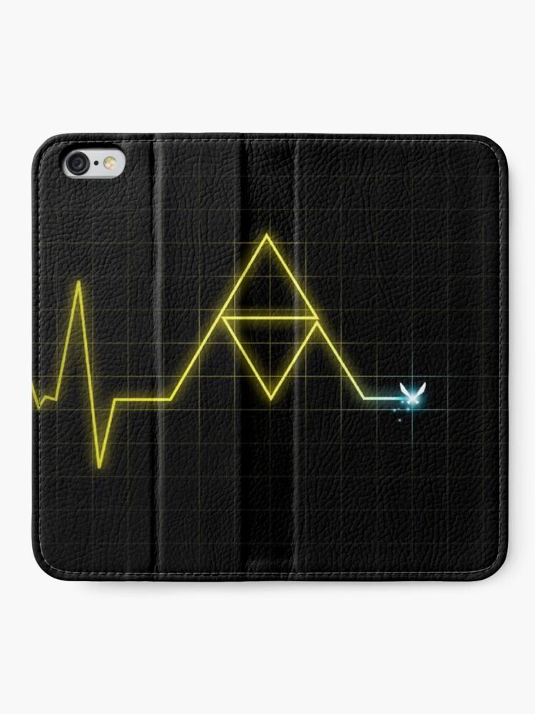 Vista alternativa de Fundas tarjetero para iPhone ¡Hey! Escucha! - Trifuerza latido del corazón