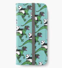 Jurassic Panda logo print blue iPhone Wallet/Case/Skin