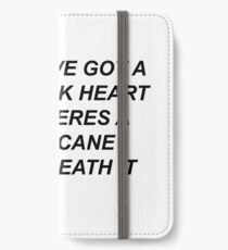 5SOS- JET SCHWARZES HERZ iPhone Flip-Case/Hülle/Klebefolie