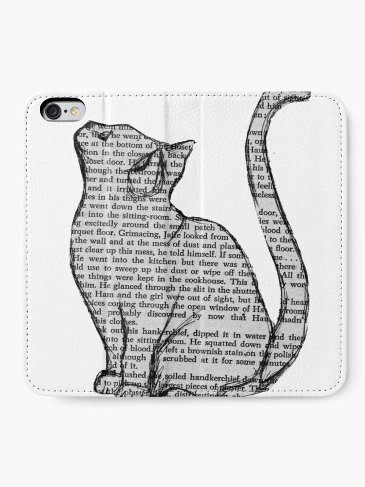 Alternative Ansicht von Bücher und Katzen und Bücher und Katzen iPhone Flip-Case