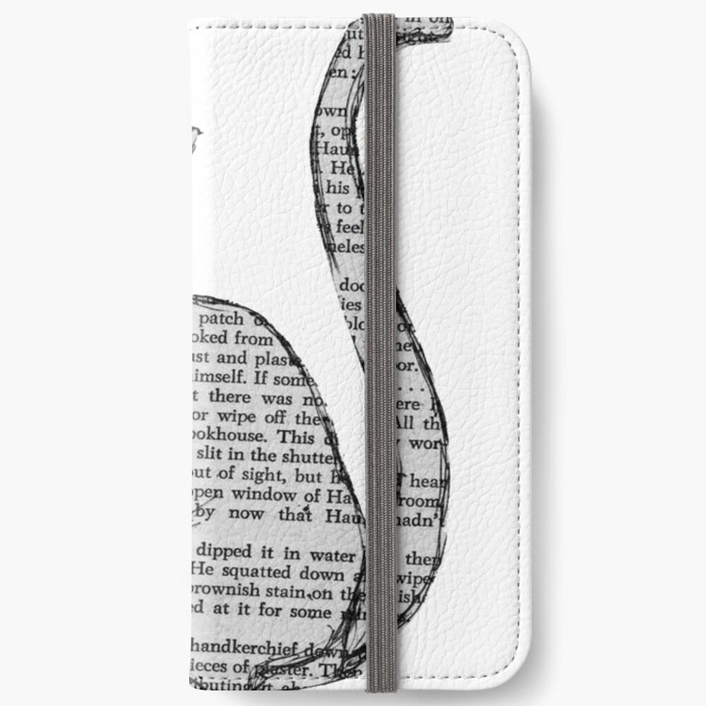 Bücher und Katzen und Bücher und Katzen iPhone Flip-Case