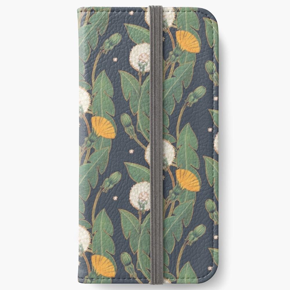 Löwenzahn nahtlose Muster iPhone Flip-Case