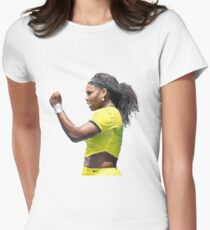 Digital Painting of Serena Williams Women's Fitted T-Shirt