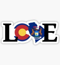 Love - Colorado/Michigan Sticker