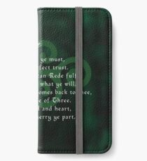 The Wiccan Rede iPhone Wallet