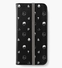 black sesame iPhone Wallet/Case/Skin