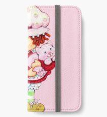 Erdbeer Shortcake & Vanillepudding iPhone Flip-Case/Hülle/Skin