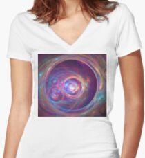Alpha Centauri Women's Fitted V-Neck T-Shirt