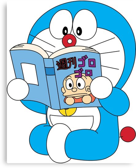 """Doraemon Read Comic Book"" Canvas Prints By Alex-Martin"