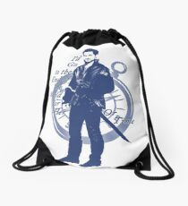"""I'd Go to the End of the World for Her"" Captain Hook Design Drawstring Bag"
