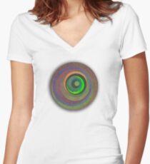 Sweet Swirls 2 Women's Fitted V-Neck T-Shirt