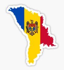 Flag Map of Moldova  Sticker