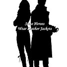 "Captain Swan ""Some Heroes Wear Leather Jackets"" Silhouette Design  by Marianne Paluso"
