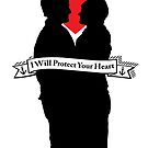 "Captain Swan ""I Will Protect Your Heart"" Silhouette Design  by Marianne Paluso"