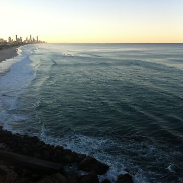 Sunset over Surfers Paradise by pookychoo