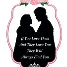 "Captain Swan ""They Will Always Find You"" Silhouette Design  by Marianne Paluso"