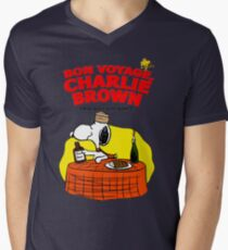 Snoopy : Bon Voyage, Charlie Brown ( And Don't Come Back! ) Mens V-Neck T-Shirt