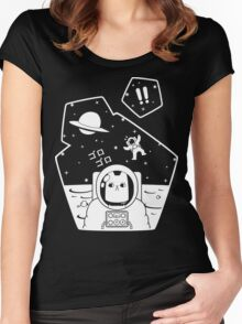 Christobelle Purrlumbus: Oblivious Explorer of Space Women's Fitted Scoop T-Shirt