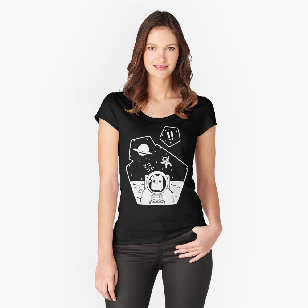 Christobelle Purrlumbus: Oblivious Explorer of Space Fitted Scoop T-Shirt