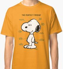 Snoopy : The Perfect Friend Classic T-Shirt