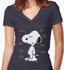 Snoopy : The Perfect Friend Women's Fitted V-Neck T-Shirt