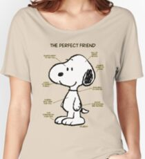 Snoopy : The Perfect Friend Women's Relaxed Fit T-Shirt