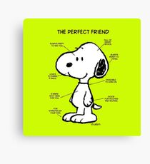 Snoopy : The Perfect Friend Canvas Print