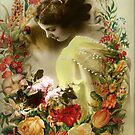 Lady with Flowers by Irene  Burdell