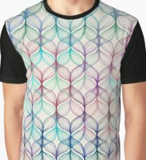 Mermaid's Braids - a colored pencil pattern Graphic T-Shirt