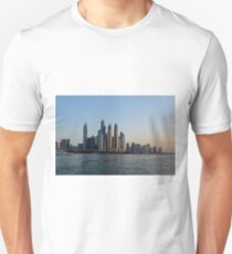 Photography of tall buildings, skyscrapers from Dubai. United Arab Emirates. Unisex T-Shirt