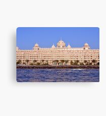 Photography of hotel by the sea from Dubai. United Arab Emirates. Canvas Print