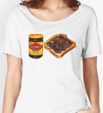 Vegemite and Toast Pattern Women's Relaxed Fit T-Shirt
