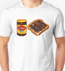 Vegemite and Toast Pattern Unisex T-Shirt