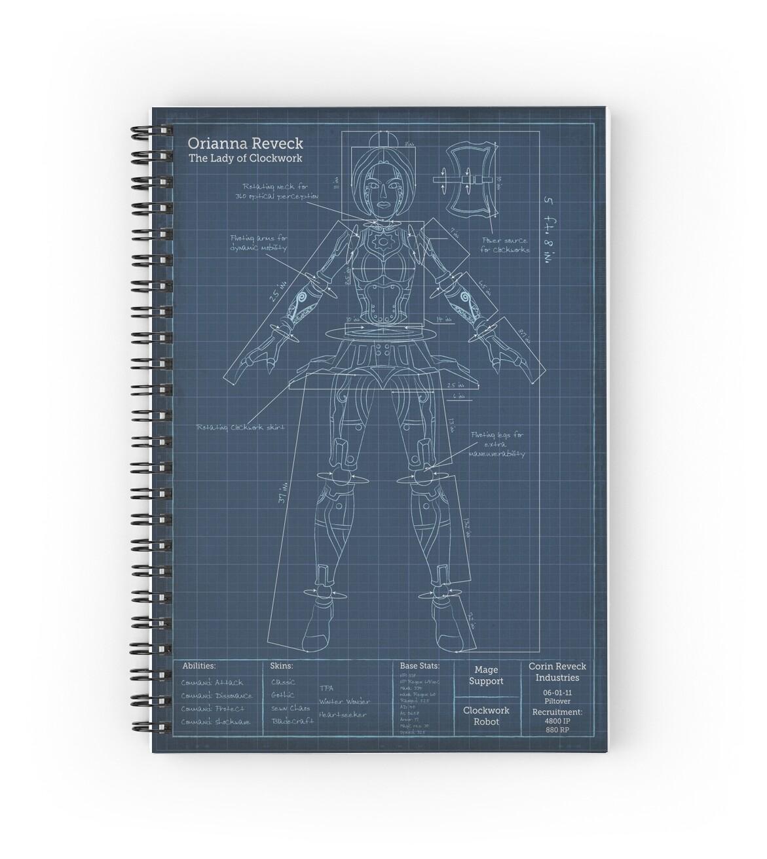 Cuadernos de espiral orianna robotic blueprint de agentsilver orianna robotic blueprint de agentsilver malvernweather Image collections