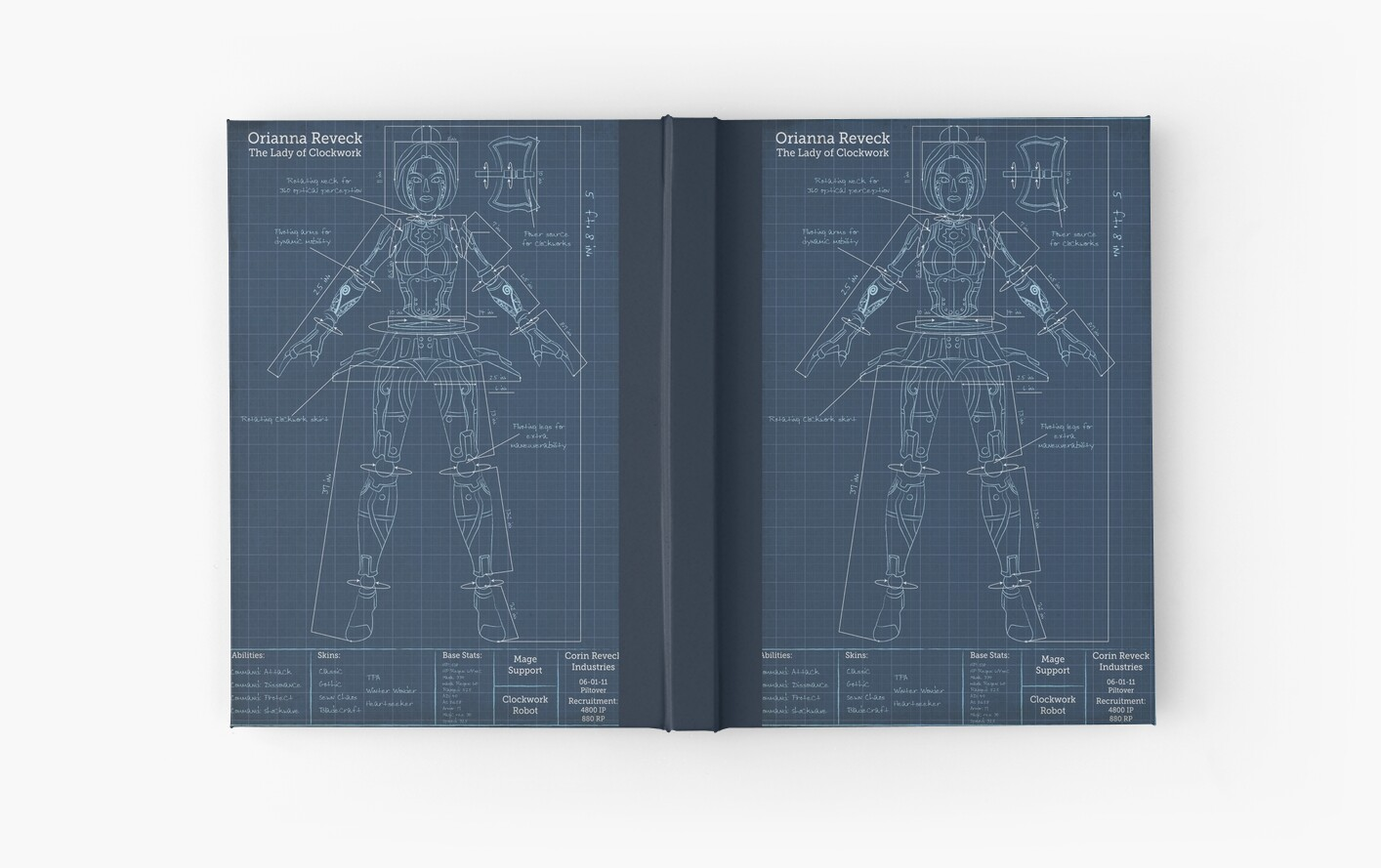 Orianna robotic blueprint hardcover journals by agentsilver orianna robotic blueprint malvernweather Choice Image